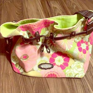 Spartina Flower Print Purse